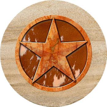 Texas Western Star Sandstone Trivet, Set of 2
