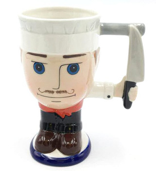 Chef with a Knife Mugs, Set of 2
