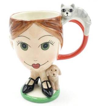Veterinarian with Dog and Cat Mugs, Set of 2