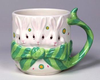 Rabbit Mugs, Set of 4