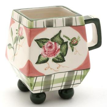 Romantic Rose Mugs, Set of 4