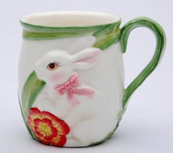 Bunny Rabbit Mugs, Set of 4