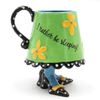 Dollymama's Green Skirt Ceramic Mugs by Joey, Set of 2