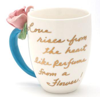 Mauve Rose Coffee Cups, Set of 2
