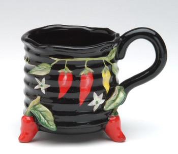 Chili Pepper Terra Cotta Mug, Set of 4