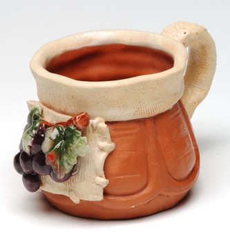 Grape Terra Cotta Mug, Set of 4