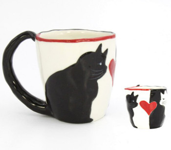 Yin Yang Cat Coffee Mugs, Set of 4