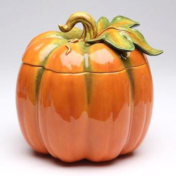 Large Porcelain Pumpkin Jar
