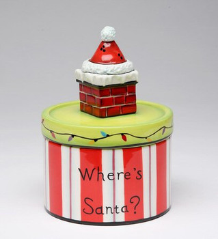 Santa Hat and Chimney on Box by Babs