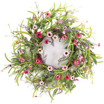 "32"" Wild Flower Bloom Silk Wreath"