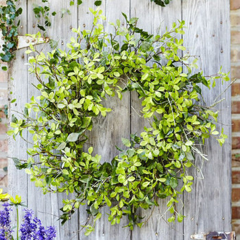"30"" Oversized Mixed Foliage Silk Wreath"