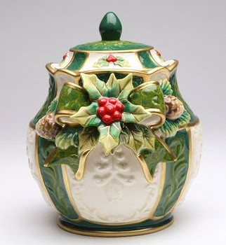 Holly Porcelain Candy Jar