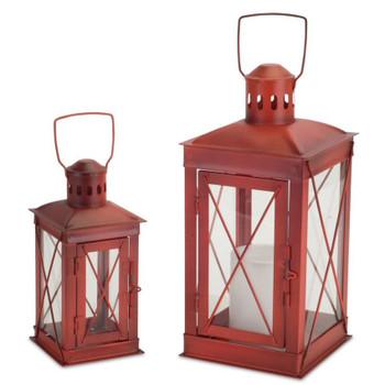 Woodland Metal Candle Lanterns Candle Holders, Set of 2