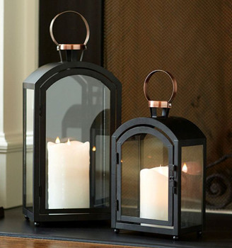 Bell Metal Candle Lanterns Candle Holders, Set of 2