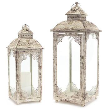 Majestic Iron Candle Lanterns Candle Holders, Set of 2
