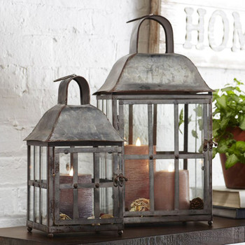 Etro Metal Candle Lanterns Candle Holders, Set of 2