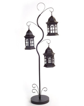 "51.25"" Triple Tree Metal Candle Lantern Candle Holder"