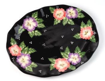 Pansy Flower Serving Platter