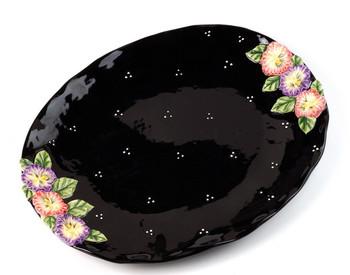 Large Pansy Flower Serving Platter