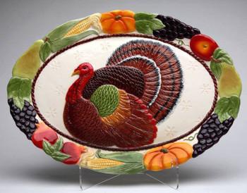 Turkey Porcelain Serving Platter