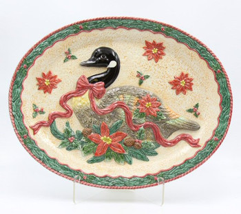 Christmas Goose Porcelain Serving Platter
