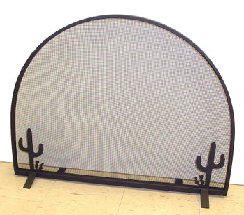 Southwest Flat Metal Fireplace Screen with Arched Top, 66 Designs