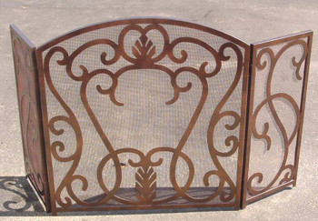 Derickson Metal Fireplace Screen with Handles