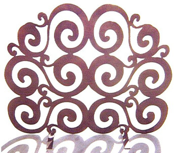 Swirl Metal Fireplace Screen