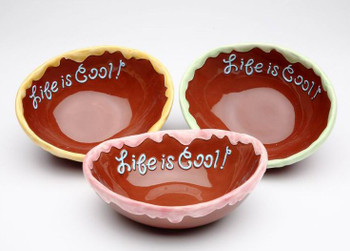 Life is Sweet Ice Cream Bowl, Set of 3