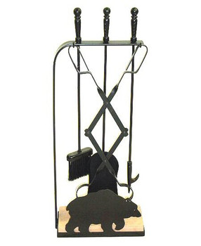 Choice Wildlife Stone Base Metal Fireplace Tools, 66 Designs