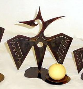"12"" Choice Wildlife Metal Candle Holder, 66 Designs"