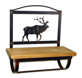 Choice Wildlife Wood Shelf with Metal Towel Bar, 66 Designs