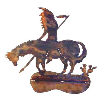 "20"" Choice Western Figure on Base Metal Statue, 66 Designs"