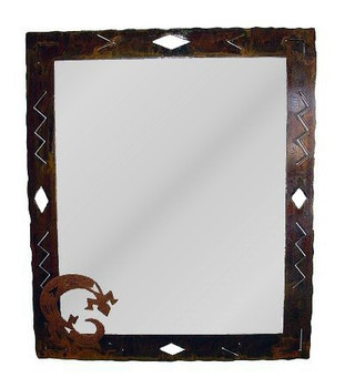 Large Choice Western Diamond Metal Wall Mirror, 66 Designs