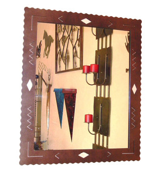 Choice Western Diamond Metal Wall Mirror, 66 Designs