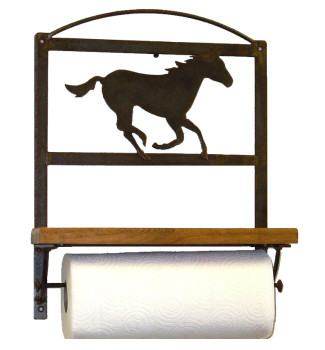 Choice Western Metal Paper Towel Rack with Shelf, 66 Designs