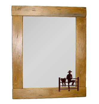 Choice Western Alder Wood Wall Mirror, 66 Designs