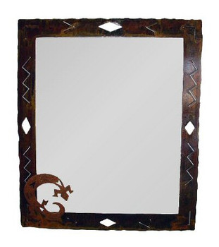 Large Choice Southwest Diamond Metal Wall Mirror, 66 Designs