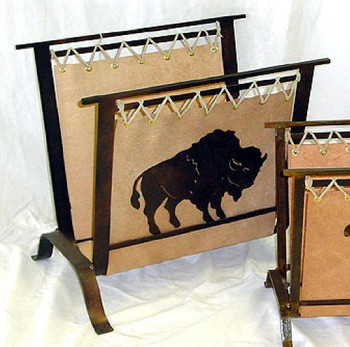 Large Choice Southwest Metal Magazine Rack, 66 Designs