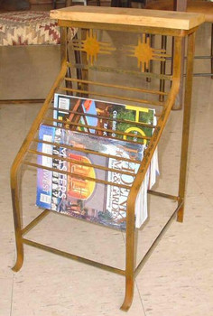Choice Southwest Vertical Metal Magazine Rack, 66 Designs
