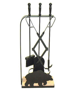 Choice Southwest Stone Base Metal Fireplace Tools, 66 Designs