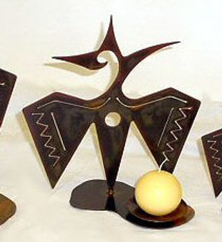 """12"""" Choice Southwest Metal Candle Holder, 66 Designs"""