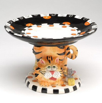 Have a Bite Cat Ceramic Cake Stand