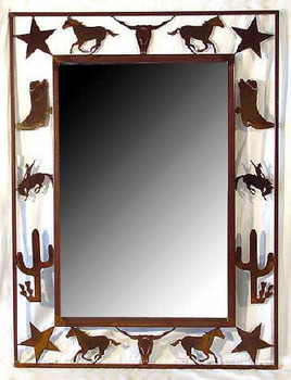 Rodeo Metal Wall Mirror