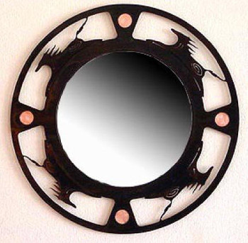 Spirit Horse Metal Wall Mirror