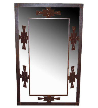 Aztec 3-D Metal Wall Mirror