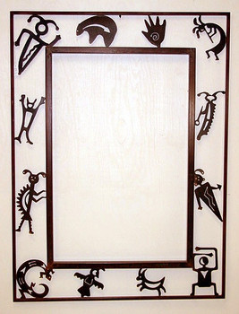 Petroglyph Metal Wall Mirror