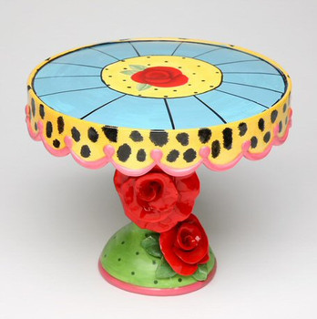 Roses Ceramic Cake Stand