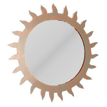Sun Metal Wall Mirror
