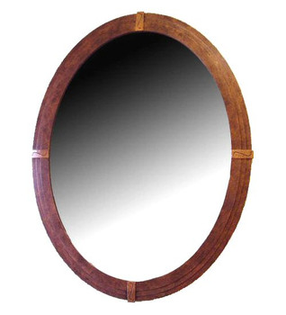 Catalina Oval Metal Wall Mirror
